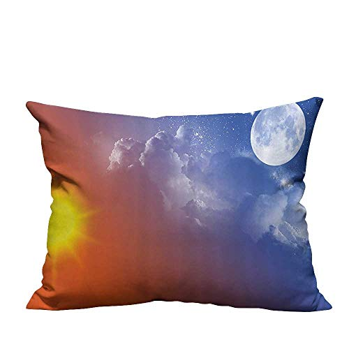 Throw Pillow Cover for Sofa Full Mo Sun Clouds Cycle of The Galaxy Sacred Movement Macrocosm Textile Crafts 20x35.5 inch(Double-Sided - Galaxy Full Sofa Sleeper