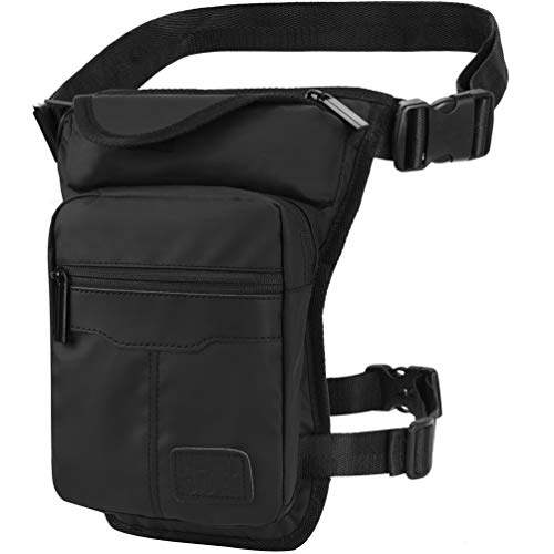 VBG VBIGER Mens Fanny Packs Retro Drop Leg Bag Sports Tactical Bag Waist Bag Sports Fanny Thigh Pack