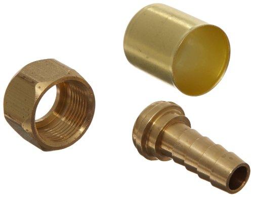 EATON Weatherhead Coll-O-Crimp 33806P-406 SAE 45 Degree Female Swivel Fitting, CA360 Brass, 3/8