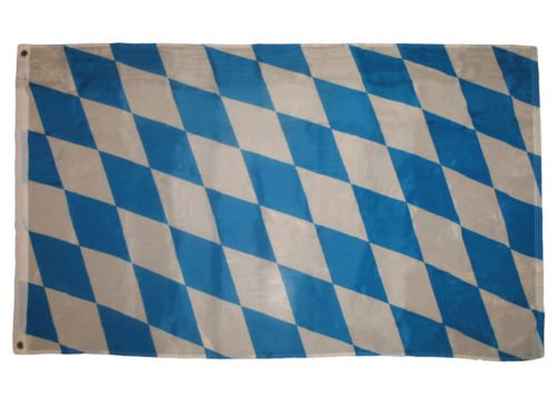 Moon 3x5 Bavarian Checks Flag Bundeslander German State Oktoberfest Banner Bavaria - Vivid Color and UV Fade Resistant - Prime Outside Garden Home Decor