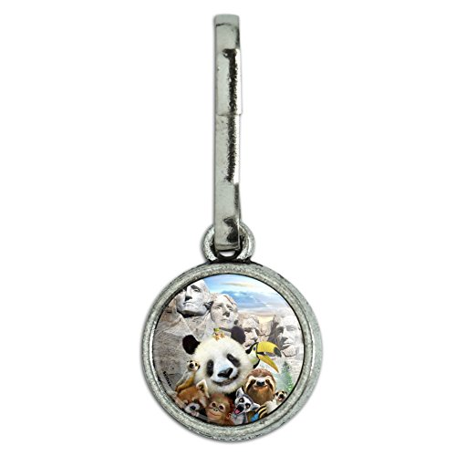 (GRAPHICS & MORE Mount Mt. Rushmore National Memorial South Dakota Panda Sloth Antiqued Charm Clothes Purse Suitcase Backpack Zipper Pull Aid)