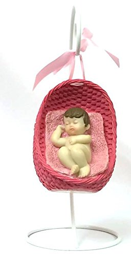 Pink Baby in Swing Nest Baby Shower Centerpiece Favor Decoration