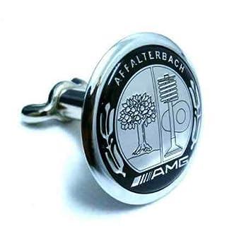 45mm Black AMG Logo Flat Hood Metal Emblem Badge for Mercedes Benz New Top!