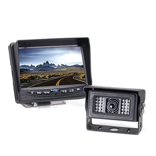 Rear View Safety RVS-770812N Heated Backup Camera System for Snow Plows, Snow Cats, Salters and Other Cold Environment Vehicles