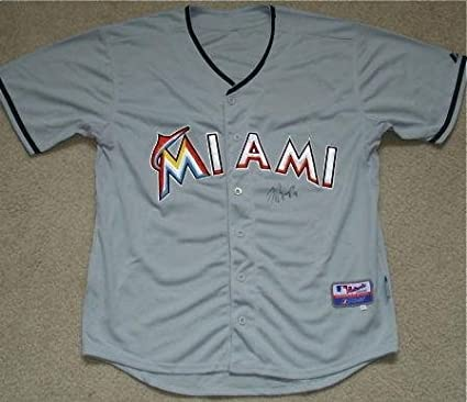low priced 38014 36721 Jose Reyes Autographed Jersey (miami Marlins) W/Proof ...