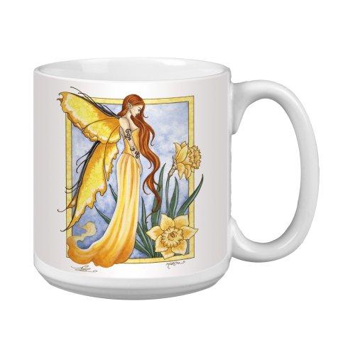 (Tree-Free Greetings XM27571 Amy Brown Artful Jumbo Mug, 20-Ounce, Sweet Daffodil Fairy)