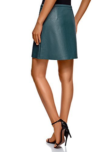 7401n en Dcoratifs Femme Jupe Zips Similicuir Ultra Bleu oodji gHqxaa