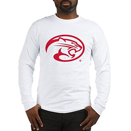 CafePress Houston Cougar Mascot Logo Unisex Cotton Long Sleeve T-Shirt White (Mascot Houston Pants)