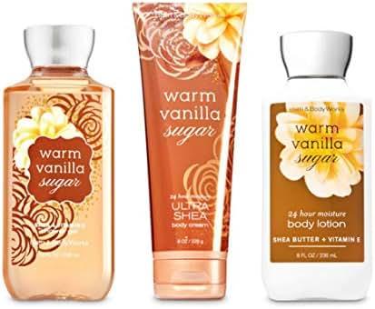 Bath & Body Works Warm Vanilla Sugar Body Set | Shower Gel, Body Lotion & Body Cream