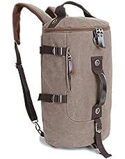 الرجال النساء أزياء مدرسة كبيرة أسطواني على ظهره حقيبة قماش الترفيه السفر