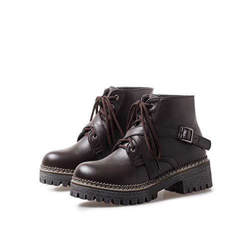 Da Largo Donna Basso Alti Con Dark E Brown Stivaletti Tacco Boots Women's O4qt4