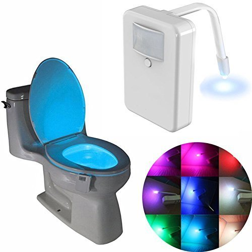 Toilet Light,Toilet Bowl Light, Led Motion Activated Toilet Night light, Potty Light, 16 Colors Changing Sensor Night Light for Potty Train ()