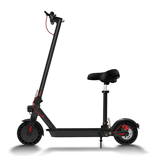 Hiboy S2 Electric Scooter - 8.5' Solid Tires - Up to 17 Miles & 18.6 MPH Portable Folding Commuting Scooter for Adults with Double Braking System, Rear Suspension and App