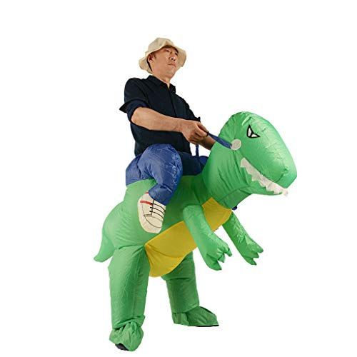 Club Penguin Halloween Party Game On (Inflatable Dinosaur T-REX Costume | Inflatable Costumes for Adults| Halloween Costume | Blow Up Costume, Fancy Dress Halloween Blow up Costumes Novelty Cosplay Dinosaur Suit for)