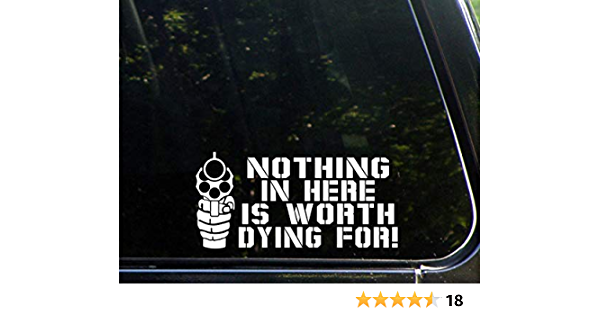New Stw 2y 3 Pack Of Single Decals Nothing Inside Worth Dying For Window Decals Rtd Products