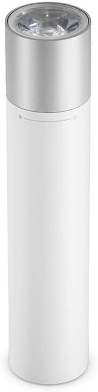 Xiaomi Mijia Linterna portátil blanca batería de litio de gran capacidad, deslumbramiento más largo,Diseño de interfaz de carga USB