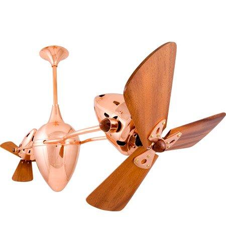 Matthews Fan Company AR-CP-WD Ar Ruthiane Indoor Ceiling Fans in Polished - Ceiling Fan Matthews Copper Polished