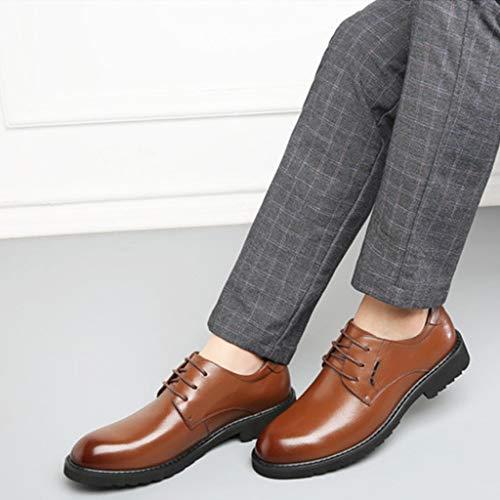 Hombres On De Slip Casual Planos Cuero Brown Mocasines Transpirable Orificio Zapatos Para Con Driver 58ASwnxERq