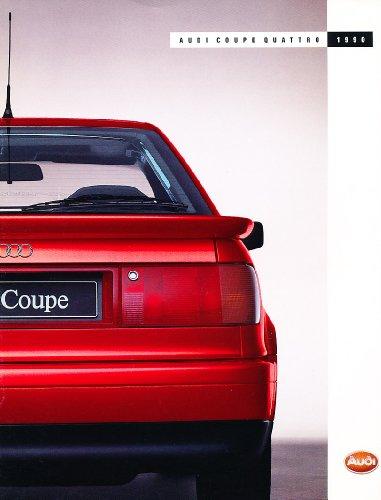 1990 Audi Coupe Quattro Original Sales Brochure Catalog