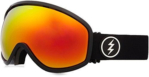 Chrome Masher (Electric Visual Masher Gloss Black/Brose Red Chrome Snow Goggle)