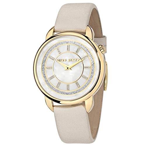 Miss Sixty Reloj Analógico para Mujer de Automático con Correa en Cuero R0751139503: Amazon.es: Relojes
