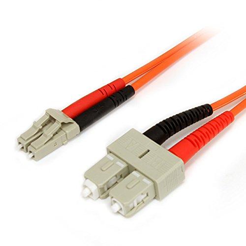 StarTech.com 2m Multimode 62.5/125 Duplex Fiber Patch Cable LC - SC (FIBLCSC2) by StarTech