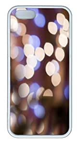 Apple iPhone 5S Cases - Bokeh light TPU Case Cover for iPhone 5S and iPhone 5 - White