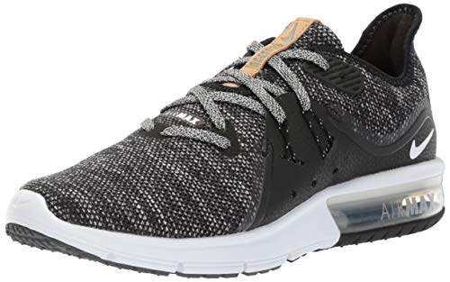 Nike Air Max Sequent 3 Size 8 Womens Running Black/White-Dark Grey Shoes