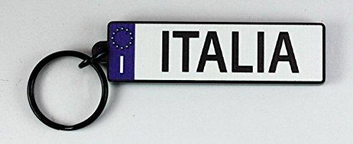 """Italy EU License Plate Acrylic Keychain 3""""x0.75x0.2"""""""