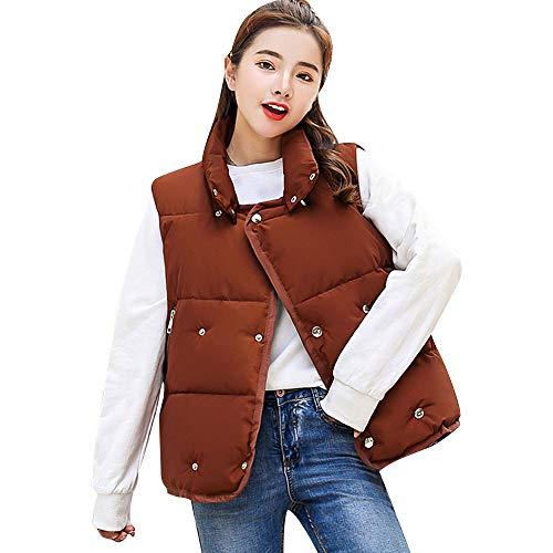 Coat Coat Jacket Ladies Thick Weight Sleeveless Puffer Coffee Vest Warm Down Gilet Packable Gilet Girls Hooded Women's Overcoat Women Ultra Jacket Vestcoat,Moonuy Warm Vest Light Slim 18xPnwO