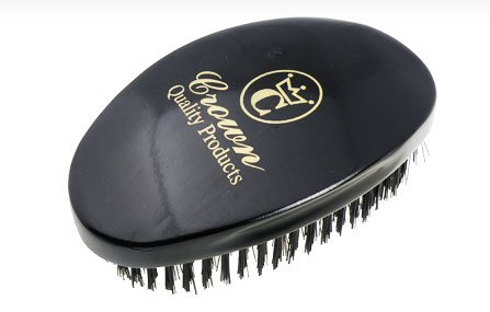 Crown Quality Products 360 Gold Ceaser Wave Brush # 7760 (Black) by Crown Quality Products
