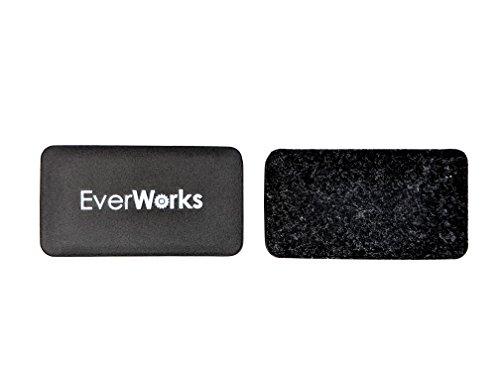 Everworks Glass Board Eraser (Set of 2) Magnetic Erasers for Magnetic Glass Whiteboards/Dry Erase Boards, Refrigerators (Rare Earth Neodymium Erasers)