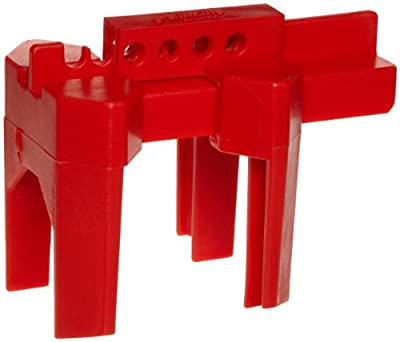 """Brady Prinzing Ball Valve Lockout, Small, for 1/2""""-2-1/2"""" Outside Pipe Diameter, Red from Brady"""
