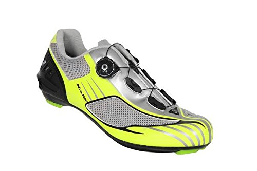 Massi Aria - Unisex road cycling shoes, grey/neon yellow colour, size 44 COLOR: NEON