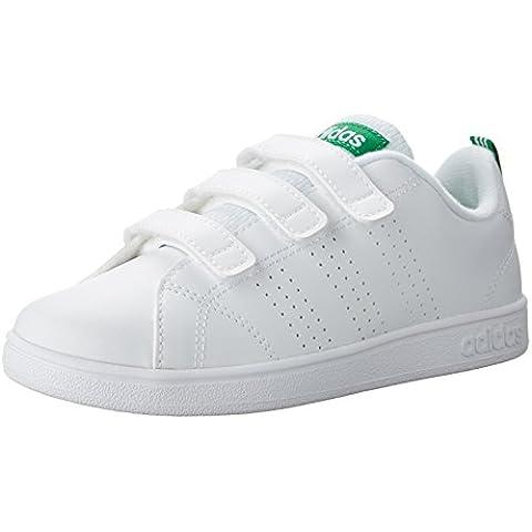 promo code 42cdb 5de9c adidas NEO Boys VS Advantage Clean Cmf C Sneaker, WhiteWhiteGreen, 13  Medium US Little Kid