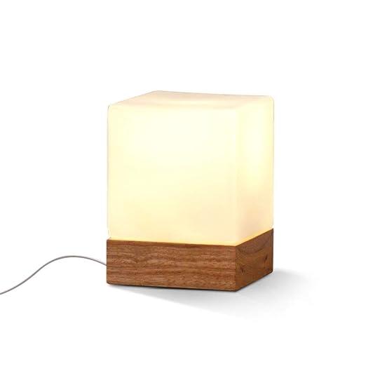 FTLY Lámpara de escritorio de noche de madera de la Plaza Pastoral ...