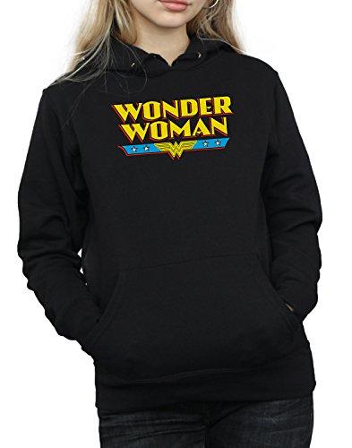 Wonder Comics Woman Dc Mujer Negro Logo Capucha Text wExPCqP