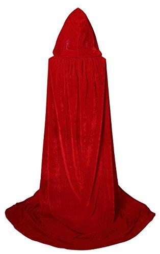 Buy red hooded cape men