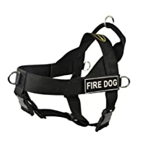 Dean & Tyler Universal No Pull Dog Harness, Fire Dog, Large, Fits Girth Size: 31-Inch to 42-Inch, Black
