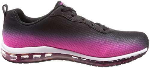 Skechers Womens Skech Air Element Fashion Sneaker Black-hot Pink