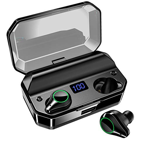 True Wireless Earbuds,TeaBoy Bluetooth 5.0 Sports Earphone 6D Stereo Touch Control Ear Buds with IPX7 Waterproof/Fast Connection/Mini Case(Only 4.5g)/Total 2000H Playtime with 6000mAh Charge Case