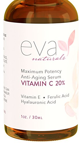 Eva Naturals 20% Vitamin C Serum For Face, 1 Oz