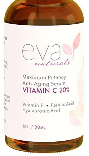 Eva Naturals 20  Vitamin C Serum For Face  1 Oz