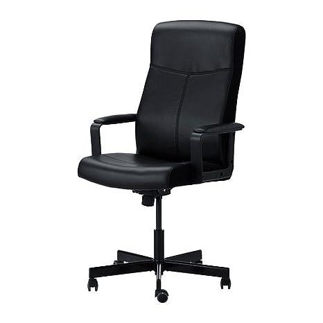 Ikea Malkolm - Silla de Oficina giratoria, Color Negro: Amazon.es: Hogar