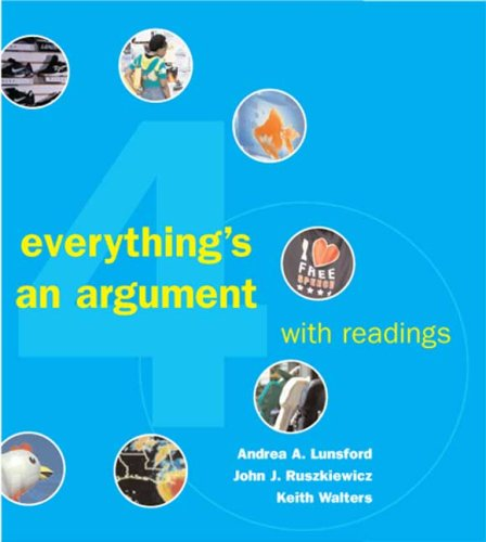 argument readings Find out more about everything's an argument with readings, eighth edition by  andrea a lunsford (9781319056261, 1319056261) at macmillan learning.