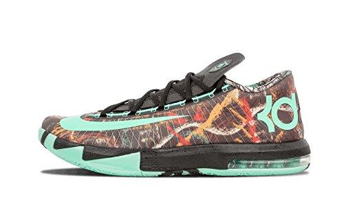 Nike KD VI - AS NOLA GUMBO - Zapatillas de Baloncesto para Hombres Edición All Star Game Illusion 647781 930 zapatillas de deporte kevin durant multicolor verde y negro brillante