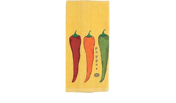 Amazon.com : Calphalon Textil reactivos con las fibras Chili Peppers Imprimir en la toalla de cocina, Dijon : Grocery & Gourmet Food