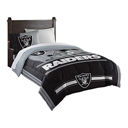 Oakland Raiders Twin Comforter - Officially Licensed NFL Oakland Raiders Safety Twin Comforter and Sham