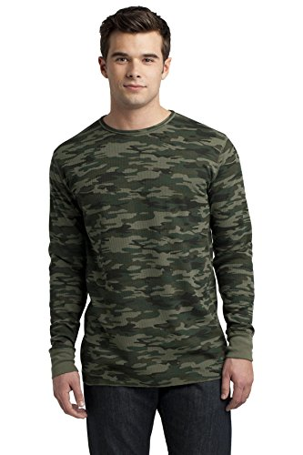District Men's Young Long Sleeve Thermal S Army Camo