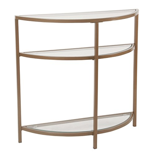 Spatial Order Half-Moon Modern Metal Accent Table, Gold (Foyer Table Metal)